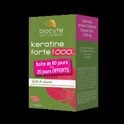 Biocyte - Pack Keratine forte ® 1000 mg - gélules