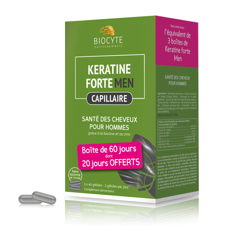 Pack Keratine men ® - gélules