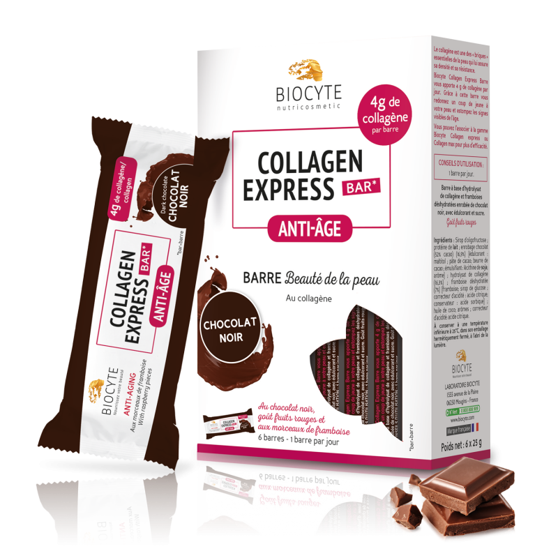 Collagen Express® bar – Chocolat Noir - x6